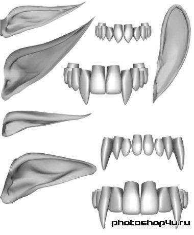 отбеливание зубов фотошоп