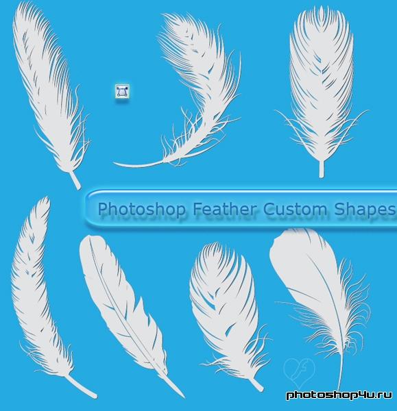 кисти для фотошопа перья: