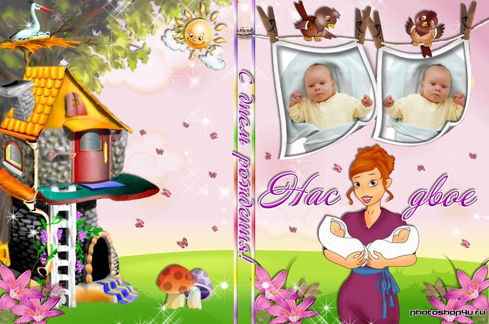 Обложка для DVD и задувка на диск – «Нас двое»