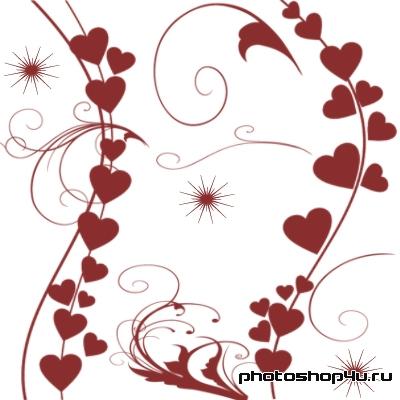 Линии с сердечками