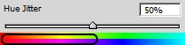 Hue jitter (Колебание цветового фона) кисти