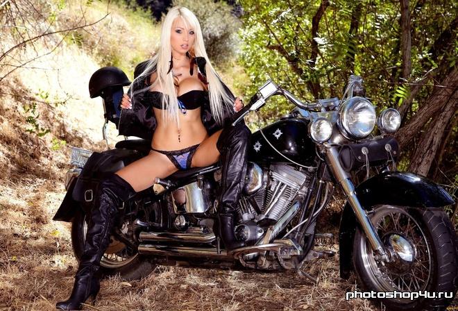Самые красивые девушки секси на рабочий стол на мотоциклах
