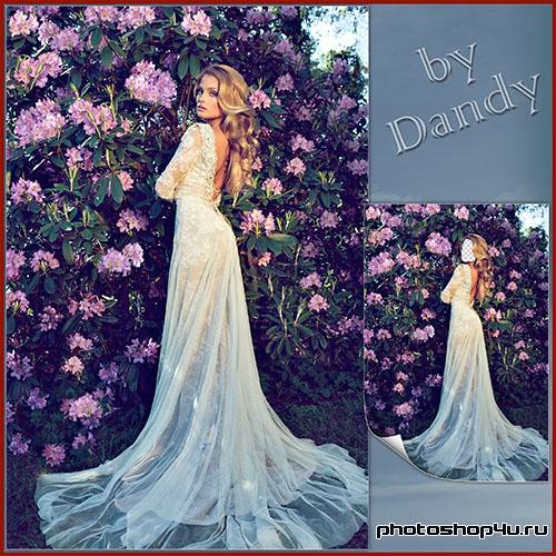 Фотошоп платья из цветов