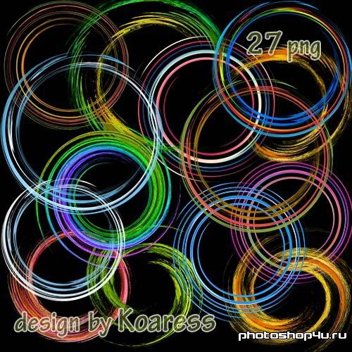 Клипарт png - круглые рамки вырезы, спирали, завитки