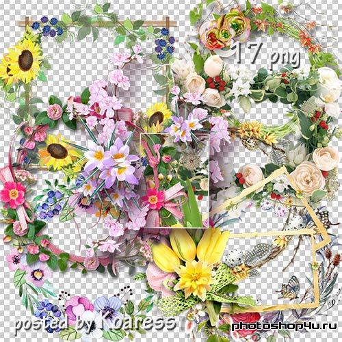 Подборка png рамок-вырезов -Цветочная коллекция 2