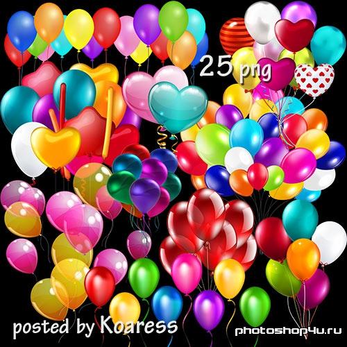 Клипарт png - воздушные шарики, связки шаров-1